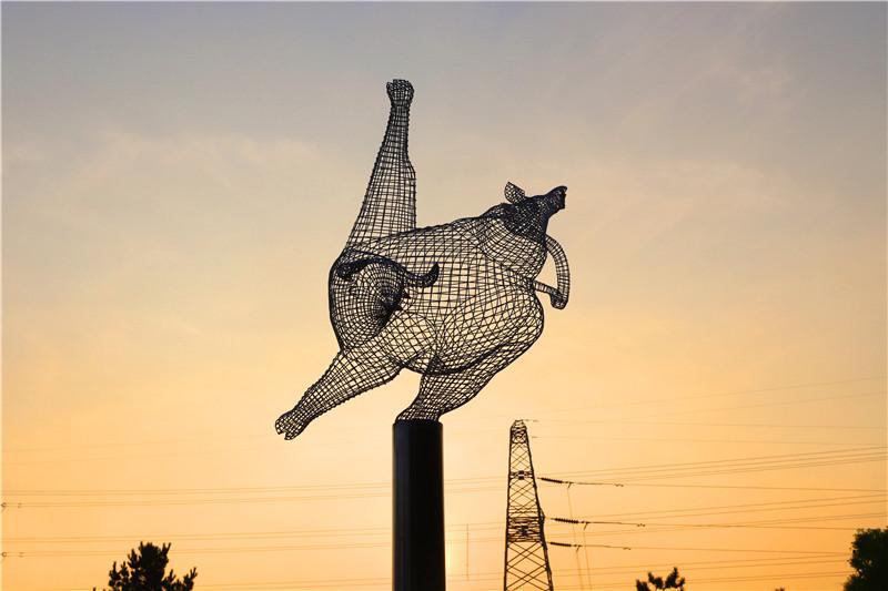 光影雕塑展,天钢公司